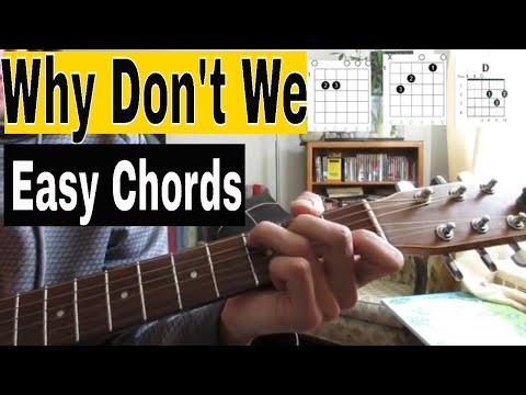 Why Don't We - Unbelievable - Guitar Tutorial (easy Beginner Lesson)