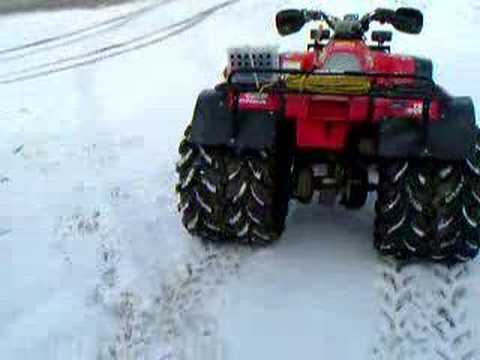 My Trx 300 376cc Set For Plowing Youtube