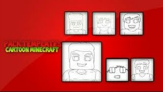 Die Packung von Vorlagen für Cartoons-Der-minecraft-Von CR4ZY Uns: Special 40 Abonnenten