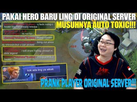 BISA PAKAI HERO BARU LING DI ORIGINAL SERVER!!! LANGSUNG DI KATAIN CHEATER! MUSUH AUTO TOXIC PARAH!