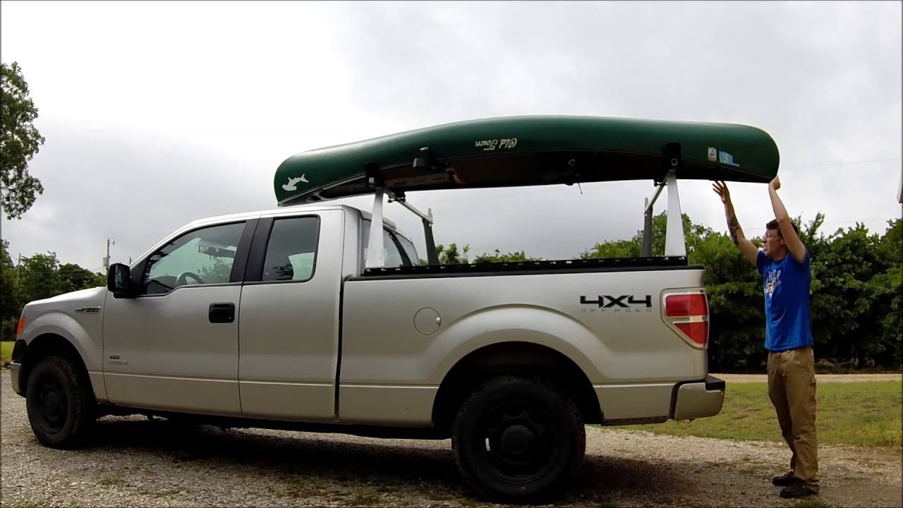 How To Load A Kayak Or Canoe Onto Your Pickup Truck Youtube