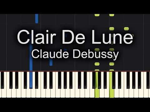 Clair de Lune Claude Debussy Piano Tutorial - SUPER EASY - Sheet Music Available!!