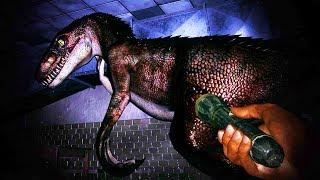 ME CAZAN LOS VELOCIRAPTORES EN LA OSCURIDAD!!!! JUEGO DE TERROR DE DINOSAURIOS OAKWOOD