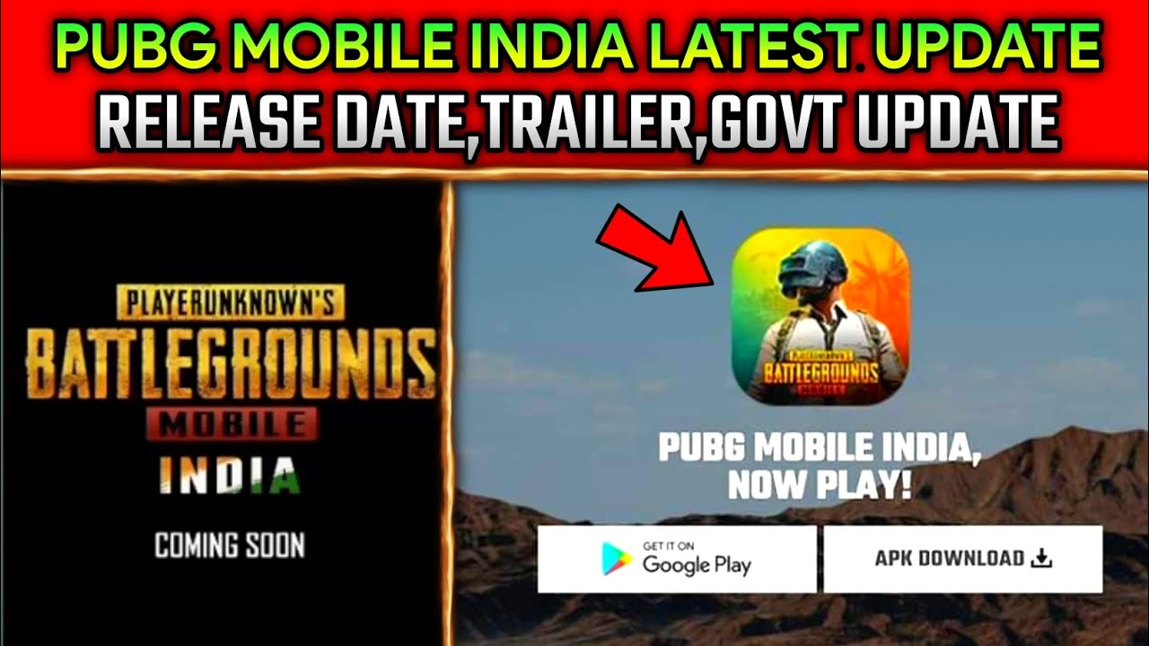 🔥PUBG MOBILE INDIA LATEST UPDATE - RELEASE DATE , TRAILER | PUBG INDIA LAUNCH DATE REVEAL ??