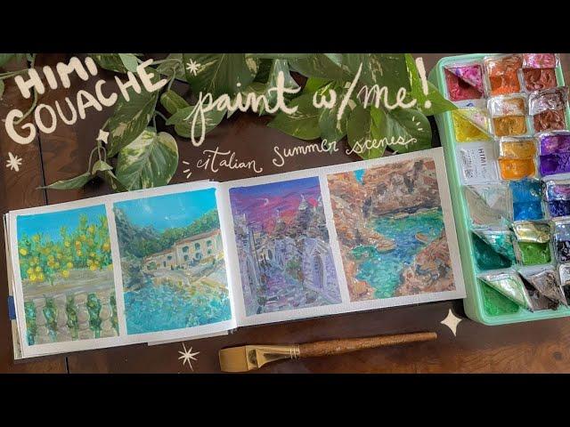 [VIDEO] 🎨🍋🌊Paint with me! gouache studies