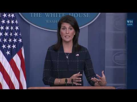 WATCH: Nikki Haley Speaks at Sean Spicer Press Secretary Press Briefing Conference