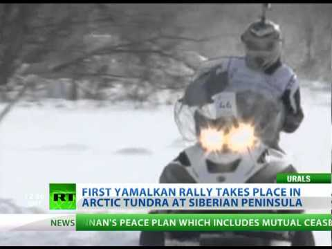 Into The Wild: Snowmobile daredevils venture into Siberian plains