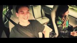 Leilani Münter takes Maxwell on insane Tesla ride