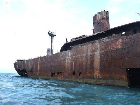 Visit to the Evangelia shipwreck in Costinesti Romania