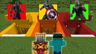 DON'T ENTER THE WRONG SECRET BASE OF SUPERHEROES IN MINECRAFT !! Minecraft Mods