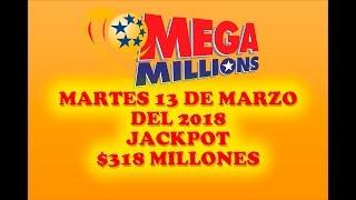 Gambar cover Resultados Mega Millions 13 Marzo 2018 $318 Millones - Powerball en Español