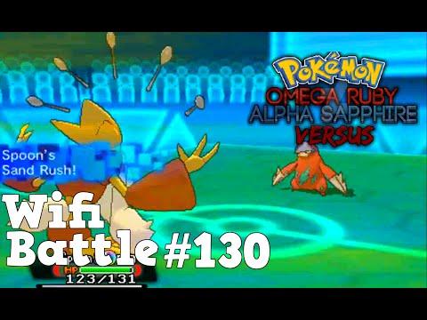 Pokemon ORAS / X&Y Wifi Battle #130: Sandrush Mega Alakazam Sweep (Omega Ruby & Alpha Sapphire)
