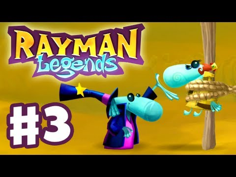 Rayman Legends - Gameplay Walkthrough Part 3 - Quick Sand (PS3, Wii U, Xbox 360, PC)