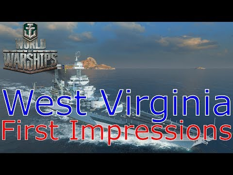 World of Warships- West Virginia First Impressions