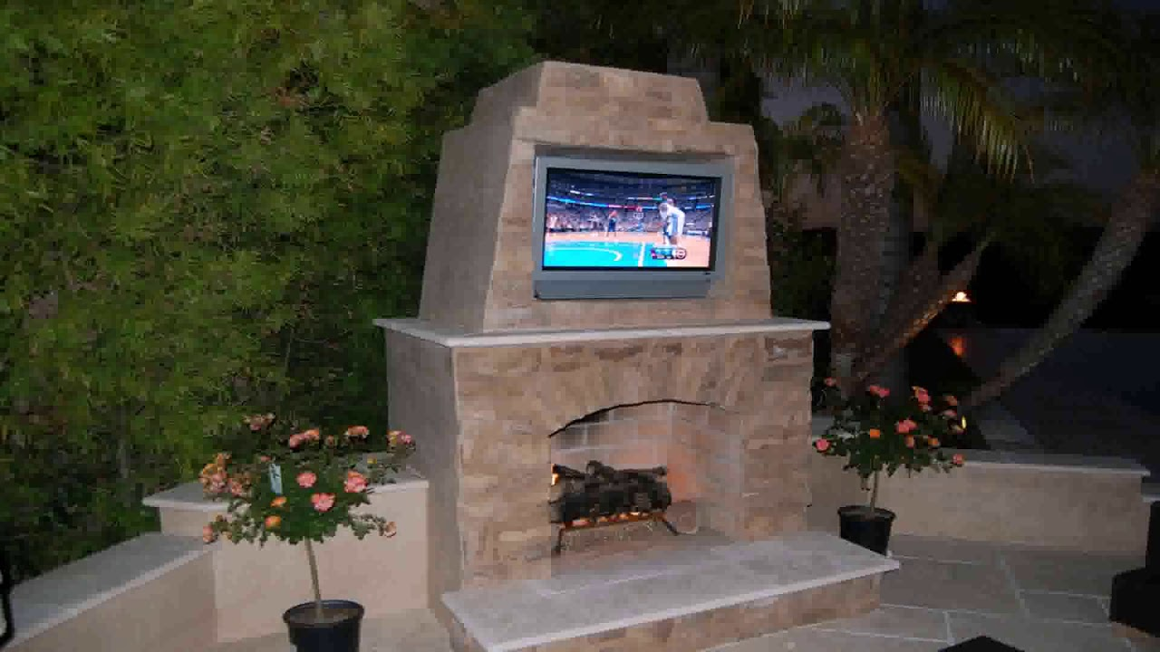 Diy Small Outdoor Fireplace Plans Youtube