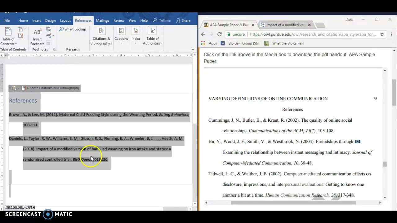 Don't use MS Word citation generator for APA format