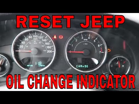How To Reset The Oil Change Light Indicator On  2017 Jeep JK