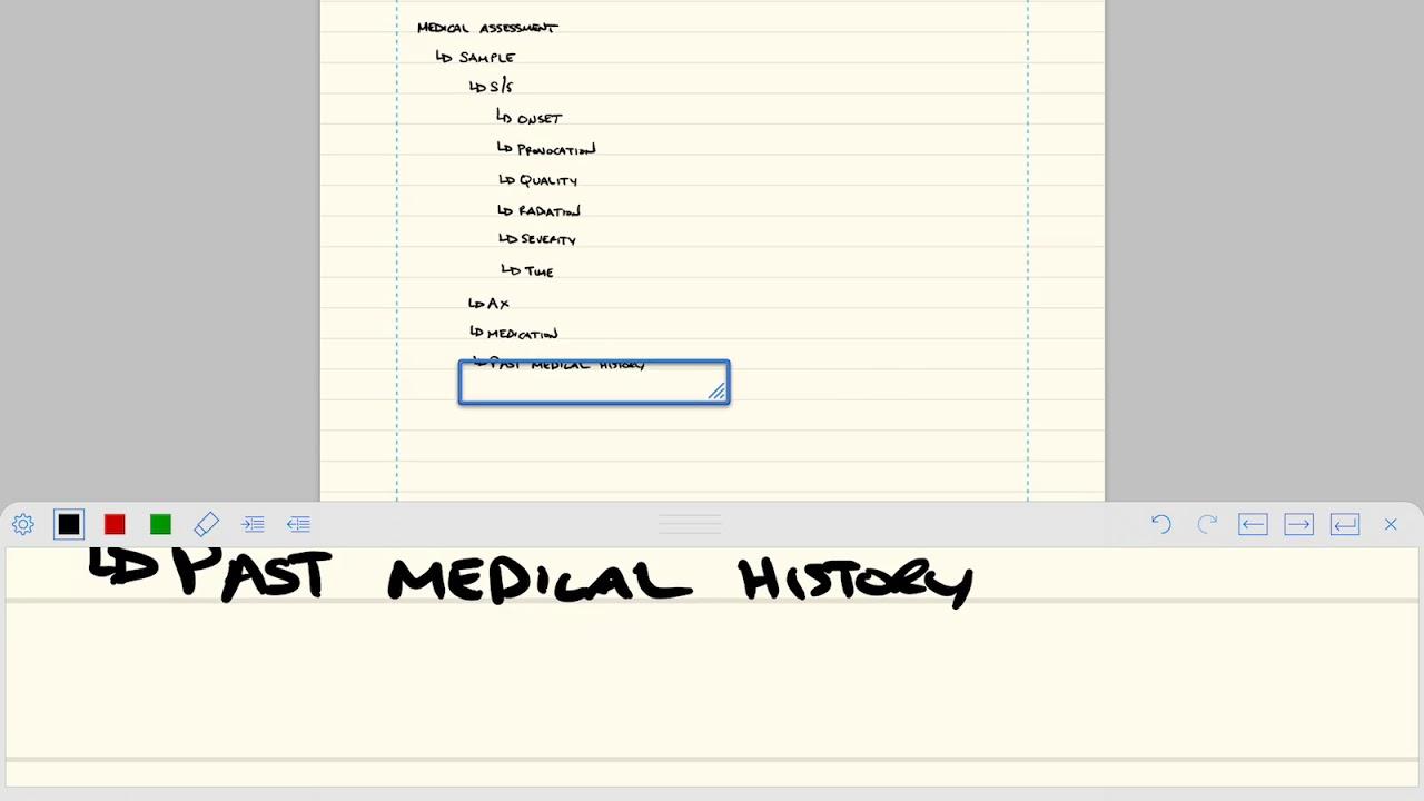 sample medical assessment