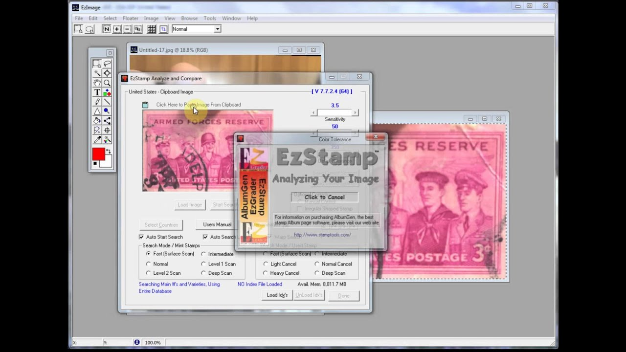 Stamp Recognition Software with your Cell Phone