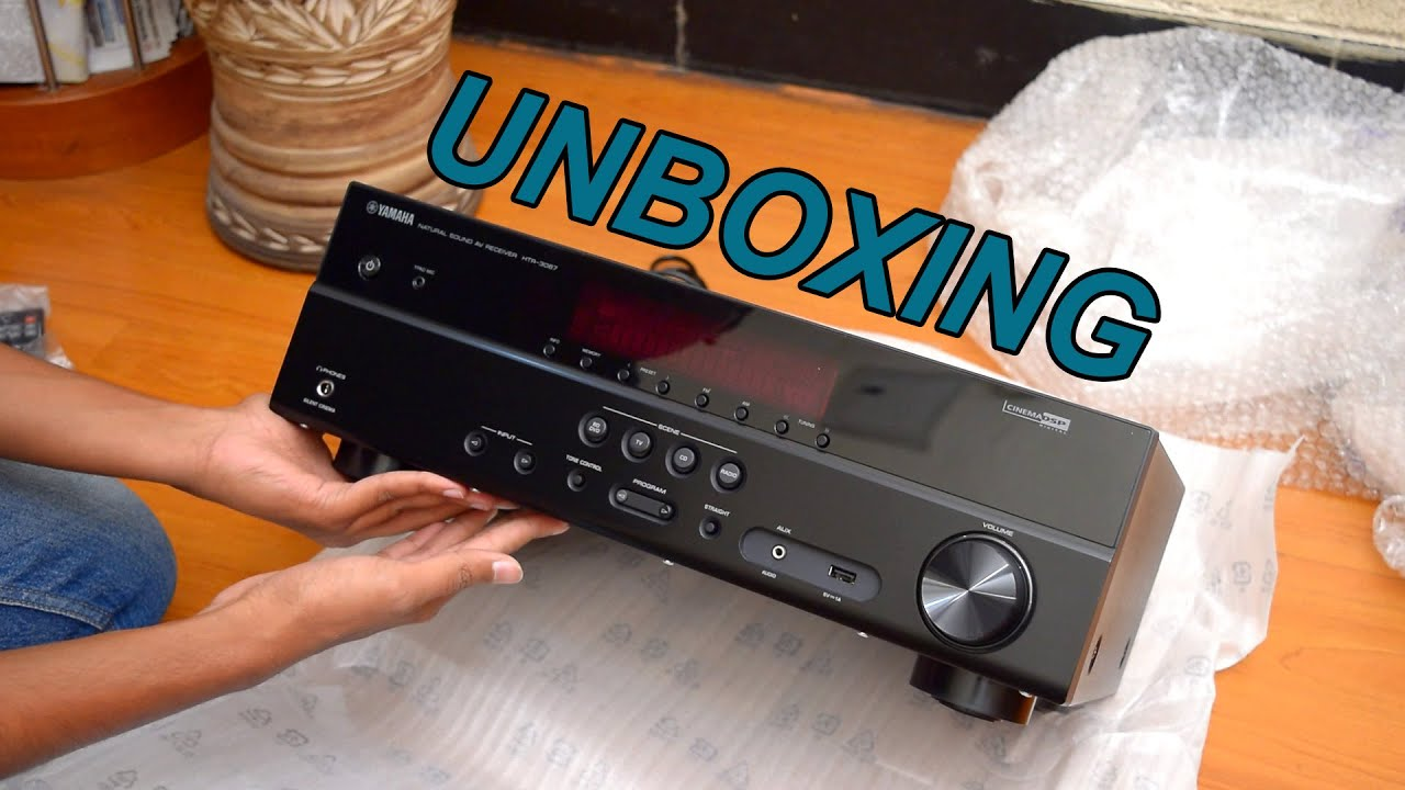 Yamaha rx v377 htr 3067 av receiver unboxing 2016 for Yamaha rx v377 manual