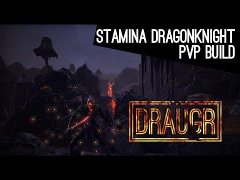 Stamina Dragonknight Build PvP - Horns of the Reach
