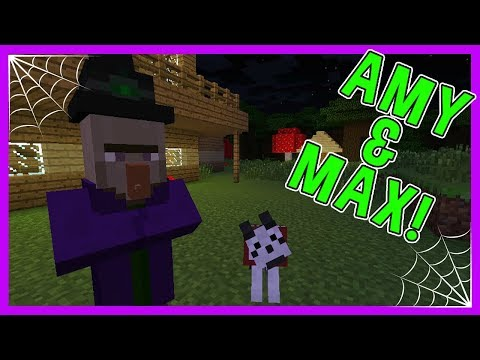 Amy & Max! Ep.9 A VISIT FROM THE WITCH! | Minecraft | Amy Lee33