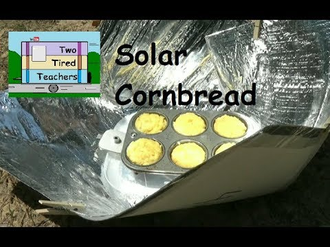 Solar CornBread - Mylar Copenhagen Solar Cooker - Solar Cooking on the go - FREE Solar Cooking