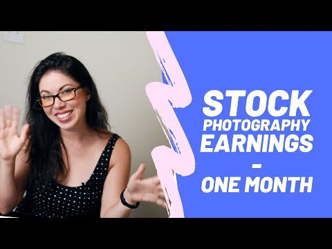 Stock Photography Money After One Month (June 2019)