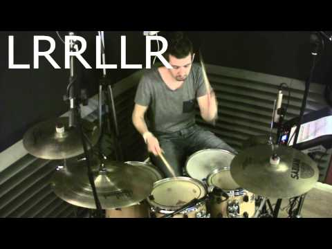 David Garibaldi like Paradiddle Diddle Permutations - Free video drum lesson By Geoff Fry