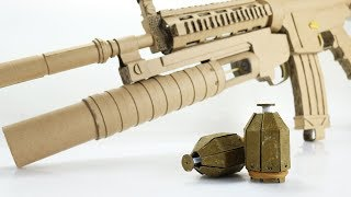 Grenade and Launcher | How to Make Cardboard Gun