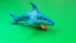 Лепка, Акула из пластилина