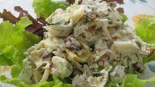 куриные сердечки с грибами салат
