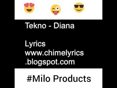 Tekno miles-Diana (official lyrics video)by @Miloproducts