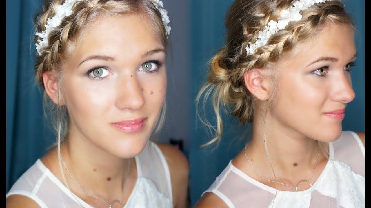 Coiffure mariage simple tresse - Maquillage facile a faire soi meme ...