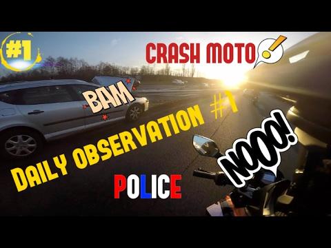 daily observation 1 crash moto police accident de voiture youtube. Black Bedroom Furniture Sets. Home Design Ideas