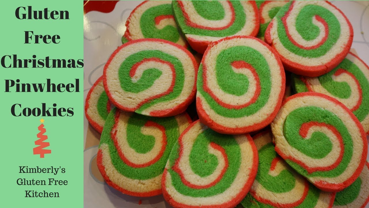 Christmas Pinwheel Cookies.How To Make Gluten Free Christmas Pinwheel Cookies