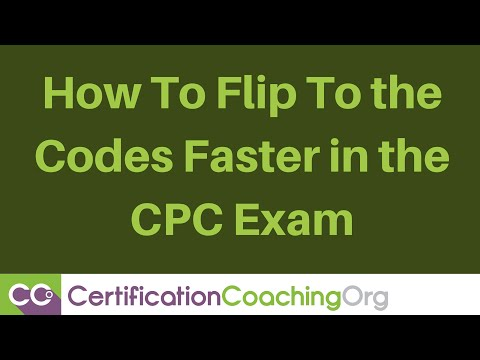 CPC Exam Tips — How to Flip to the Codes Faster
