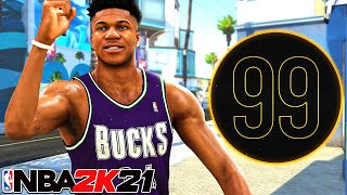 99 SPEED-BOOSTING GIANNIS ANTETOKOUNMPO is OVERPOWERED in NBA 2K21