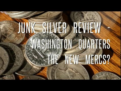 Junk Silver Review - Washington Quarters, stacking recognizable 90% constitutional silver.