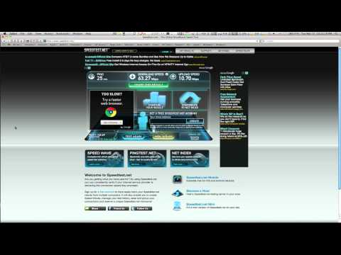 internet speed test on my computer