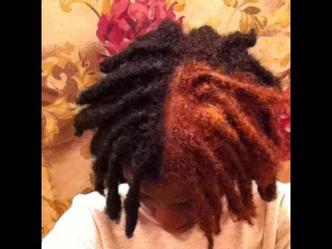TUTORIAL THE BIG REVEAL I DYED MY THICK DREADLOCKS All By
