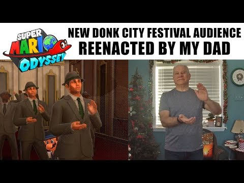 Super Mario Odyssey: New Donk City Festival Audience reenacted by my Dad