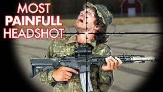 The most painful Headshot ever - Airsoft Sniper SSG24