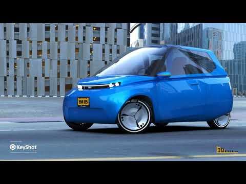 0 - Studenten entwickeln recycelbares 3D-gedrucktes Auto