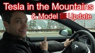 Tesla in the Mountains & Model 3 news! *Featuring DJI Mavic*