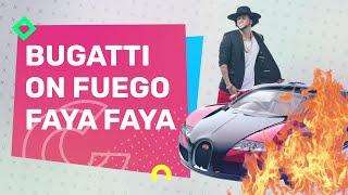 Prenden Fuego Al Bugatti De El Alfa   Casos Y Cosas
