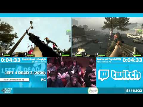 Left 4 Dead 2 by Various Runners in 1:11:08 - Awesome Games Done Quick 2016 - Part 17