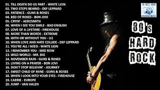 HARD ROCK 80S - Guns & Roses, Bon Jovi, Def Leppard, Aerosmith, White Lion