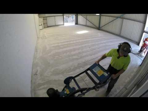 Concrete Floor - Diamond Grind and Epoxy Coating