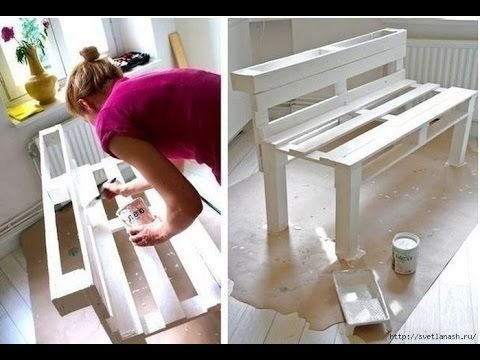 eine bank aus europaletten bauen bank selber bauen youtube. Black Bedroom Furniture Sets. Home Design Ideas